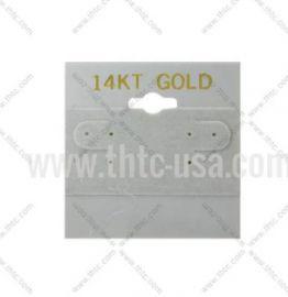 "Hanging Earring Card 2"" Square 14K Grey /1Pk(100Pcs)"