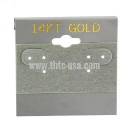 "Gold (Gold Imprinted) Earring Card, 2"" x 2"", 100Pcs"