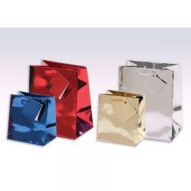 "Glossy Shopping Tote 7-3/4""X4""X9-3/4"" Metallic Gold /1Pk(20Pcs)"