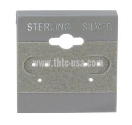 Hanging Earring Card- Sterling Silver Front / White