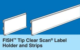 FISH TIP CSLH LABEL HOLDERS FOR PAPER LABELS, 100 Pcs
