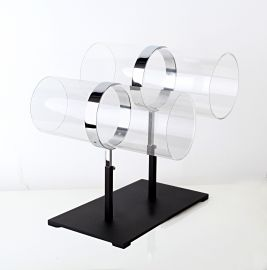 "Horizontal Head Band Display, Cylinder 5 1/4"" Disc 12""(L), Base: 7"" X 11"""