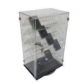 "2 Sided 6 Level Rotating Shelf Display, 12"" W x 8"" D x 19"" H"