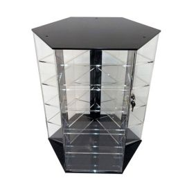 """3 Sided 5 Level Rotating Shelf Display, Holds 120 Crystal Earring Cases 16""""X14""""X18"""" (WxDxH)"""