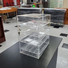 4 Level Counter Top Ring Display With Drawer