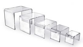 Set Of 5 Acrylic Display Risers, Case of 25 Sets