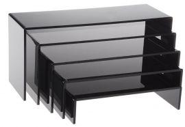 U-Shaped Riser, Set Of 5 Black Acrylic