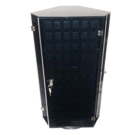 """3 Sided Rotating Earring Display, Holds 180 Puff Cards Ti60 Black 16""""X14""""X22"""" (WxDxH)"""