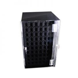 4 Sided Rotating Earring Display, Holds 240 Puff Cards Ti-60 Black