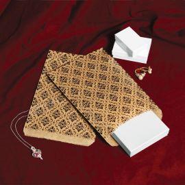 Paper Gift Bag - Black Damask, 1000 Pcs