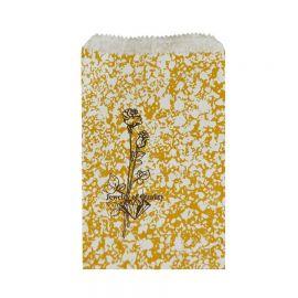 "5"" W x 7"" H Paper Gift Bag, Gold-Tone, 1000 Pcs"