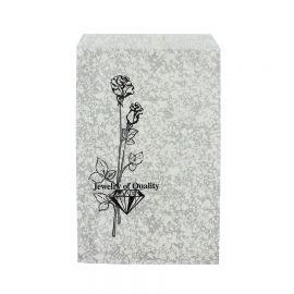 """4"""" W x 6"""" H Paper Gift Bag, Silver-Tone, 1000 Pcs"""