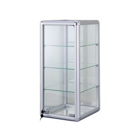 """Counter Top Glass Showcase 14""""(L) x 12""""(W) x 27""""(H) with 3 Shelves"""