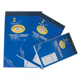 "2-Part Carbonless Sales Order Book, 5 9/16"" X 8 7/16"""