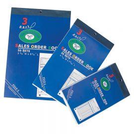 "3-Part Carbonless Sales Order Book, 5 9/16"" X 8 7/16"""