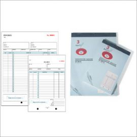 """3 Part Carbonless Invoce Book, 5 9/16"""" X 8 7/16"""""""