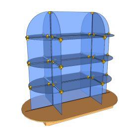Custom Glass Cube Display Fixtures 10