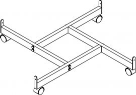 """4-Way Base For W/ Casters, Thread 3/8"""""""