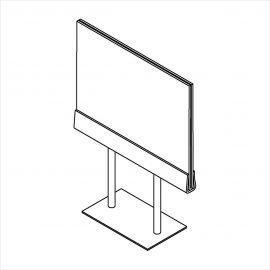 "Acrylic Signholder, 11""(W) X 7""(H), Chrome Base, Pack of 24"