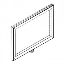 """Metal Frame Sign Holder, 11""""(W) X 7 1/2""""(H), 1/4"""" X 3/8"""" Fitting, Pack of 25"""