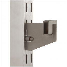 """3"""" Rectangular Hangrail Bracket, For 1"""" Slot On 2"""" Center, Pack of 25"""