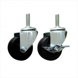 """Caster, 3"""", With Brake, Pack of 2"""