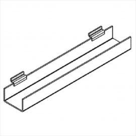"J-Rack Flat Bottom For Book, For Slatwall, 24""(L) X 3/16(T), Pack of 12"