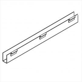 "J-Rack Flat Bottom For Book,  For Slatwall, 36""(L) X 1/8(T), Pack of 12"