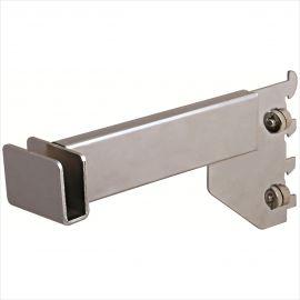 """Rectangular Hangrail Bracket, 8, For 1/2"""" Slot On 1"""" Center, Pack of 25"""