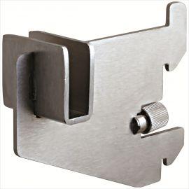"""Rectangular Hangrail Bracket, 3"""", For 1"""" Slot On 2"""" Center, Pack of 25"""