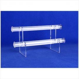 """2 Tier Bracelet Display, 1"""" Diameter Bar ,11 3/4""""(L) X 5""""(W) X 6""""(H) / Clear"""
