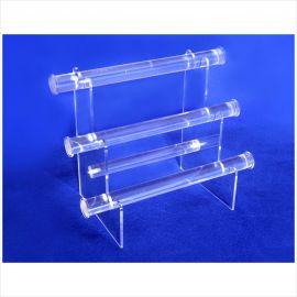 """3 Tier Bracelet Display, 1"""" Diameter Bar, 11 3/4""""(L) X 6 1/2""""(W) X 9 1/4""""(H) / Clear"""