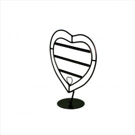 """Antique Style Heart Earring Display, 10""""(W) X 10 1/2""""(H), Pack of 2"""
