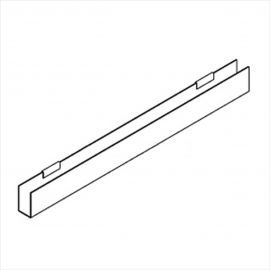 """J-Rack Flat Bottom,  For Gridwall,24""""(L) X 1/8""""(T), Pack of 12"""