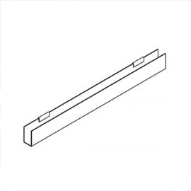 """J-Rack Flat Bottom For Book For Gridwall 24""""(L) X 3/16""""(T) Pack of 12"""