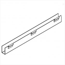 """J-Rack Flat Bottom,  For Gridwall, 36""""(L) X 1/8""""(T), Pack of 12"""
