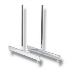 """""""T"""" Leg For Gridwall, 5/16"""" Thread, Chrome, Pack of 12"""