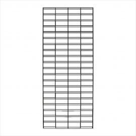 "Slatgrid Panels, 1/4"" Wire,Chrome, Pack of 3"