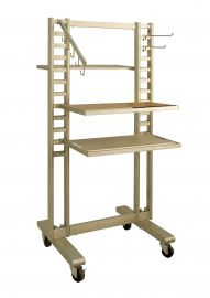"""Double Displayer With Casters, 62""""(H) X 24""""(W)"""