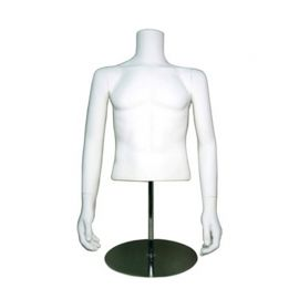 """Half Mannequin W/ Shoulder Cap, Height: 33 1/2"""", Chest 37 7/8"""", Waist 29 3/8"""""""