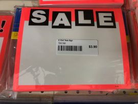 "Price Signs / Sale, 5 1/2"" X 7""(50 Pcs)"