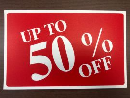 Plastic Message Sign / Up To 50% Off