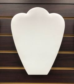 """Slatwall Necklace Display - Leatherette  , 10 7/8""""(H) / White"""