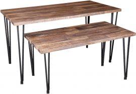 "Large Antique Wood, 52""(L) X 30""(W) X 30""(H), Metal Finish Legs"