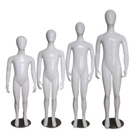 Egghead Abstract Children Mannequin, Glossy White - 6, 8, 10, 12 Years Old