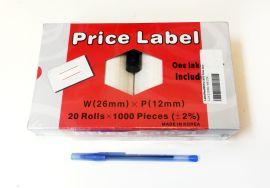 Motex L2612RED/WHITE Label/Red/WhFor 2612 Price Gun