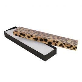 """Cotton Filled Box 8"""" x 2"""" x 1"""" Leopards / 100Pcs"""