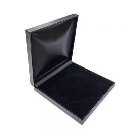 "Classic Necklace Box, Black, 7 1/2"" x 7 5/8"" x 1 1/2"" 6 Pcs / Pack"