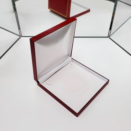 """Classic Necklace Box, Red, 7 1/2"""" x 7 5/8"""" x 1 1/2"""" 6 Pcs / Pack"""