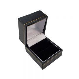 """CLASSIC LEATHERETTE RING BOX,1 3/4"""" Wx 2"""" L x 1 1/2"""" H, BLACK, 12Pcs"""